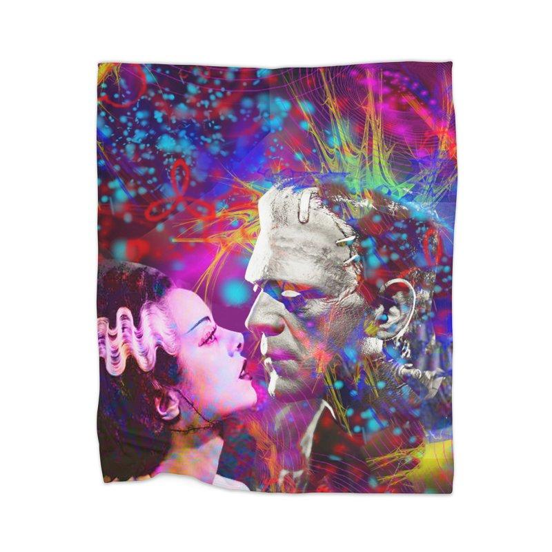 Frankenstein`s Bride Home Blanket by Matthew Lacey-icarusismartdesigns