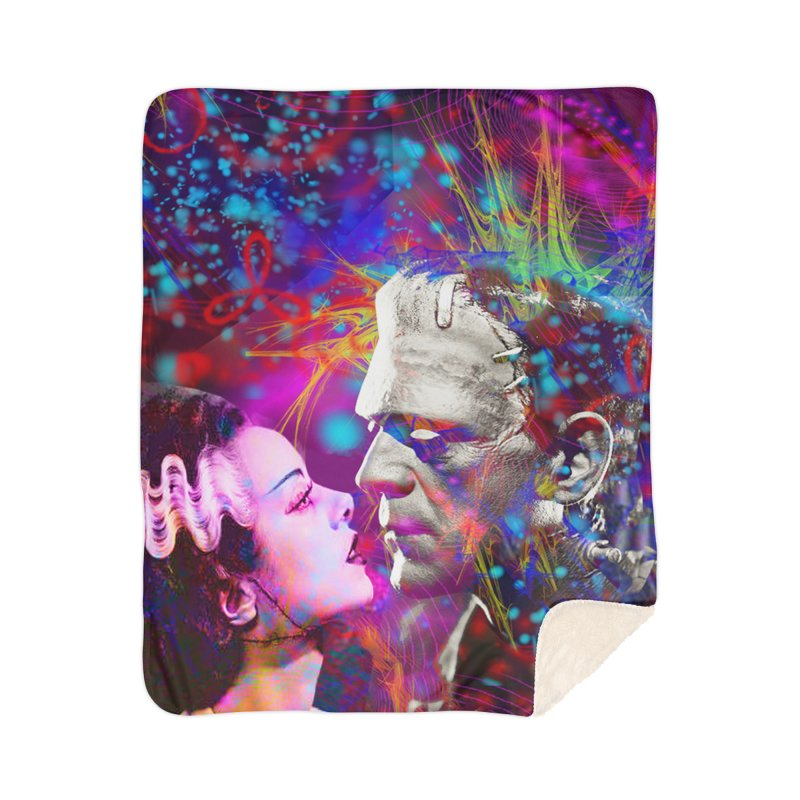 Frankenstein`s Bride Home Blanket by Matthew Lacey-icarusismartdesigns