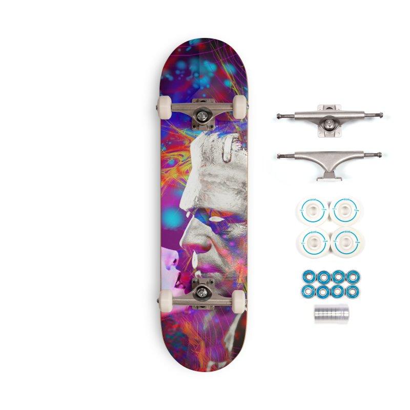 Frankenstein`s Bride Accessories Skateboard by Matthew Lacey-icarusismartdesigns