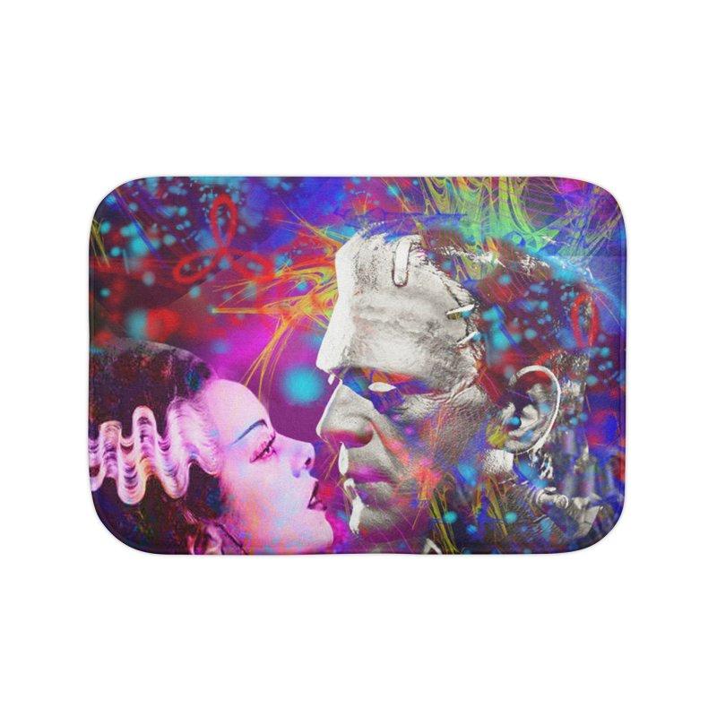 Frankenstein`s Bride Home Bath Mat by Matthew Lacey-icarusismartdesigns