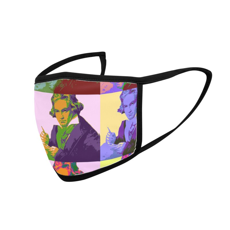 Ludwig Van Beethoven Pop Art Accessories Face Mask by Matthew Lacey-icarusismartdesigns