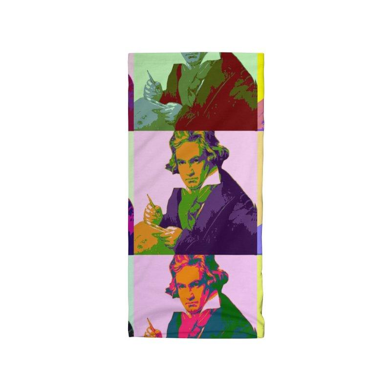 Ludwig Van Beethoven Pop Art Accessories Neck Gaiter by Matthew Lacey-icarusismartdesigns