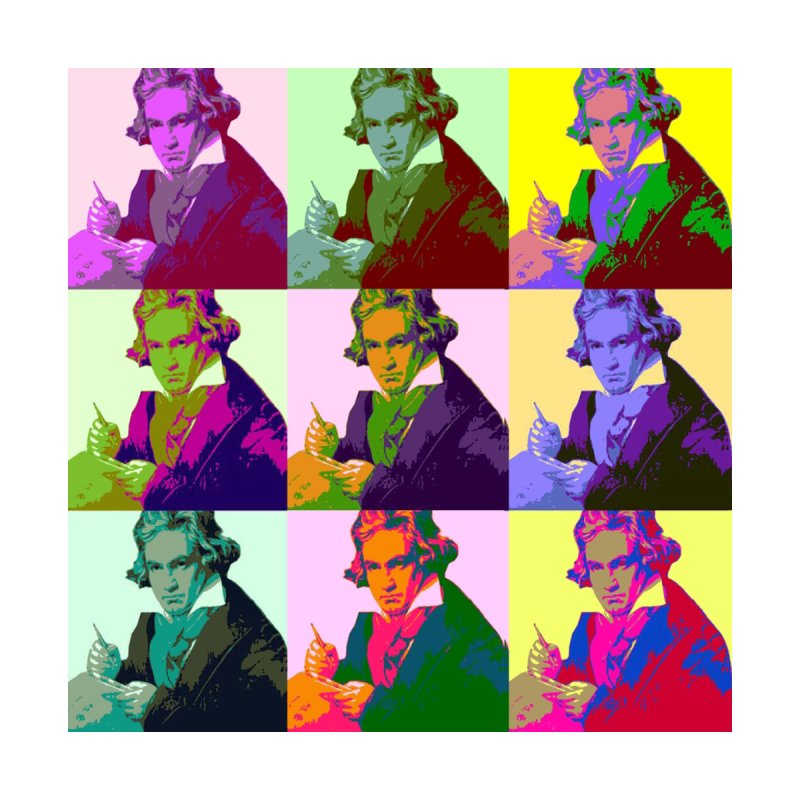 Ludwig Van Beethoven Pop Art Accessories Skateboard by Matthew Lacey-icarusismartdesigns