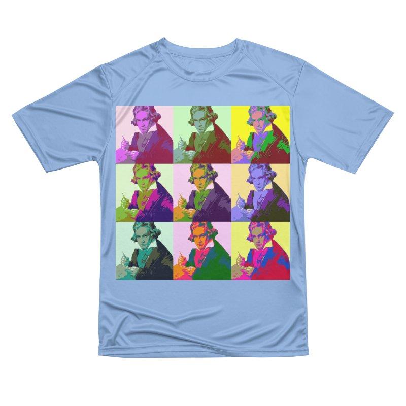 Ludwig Van Beethoven Pop Art Men's T-Shirt by Matthew Lacey-icarusismartdesigns