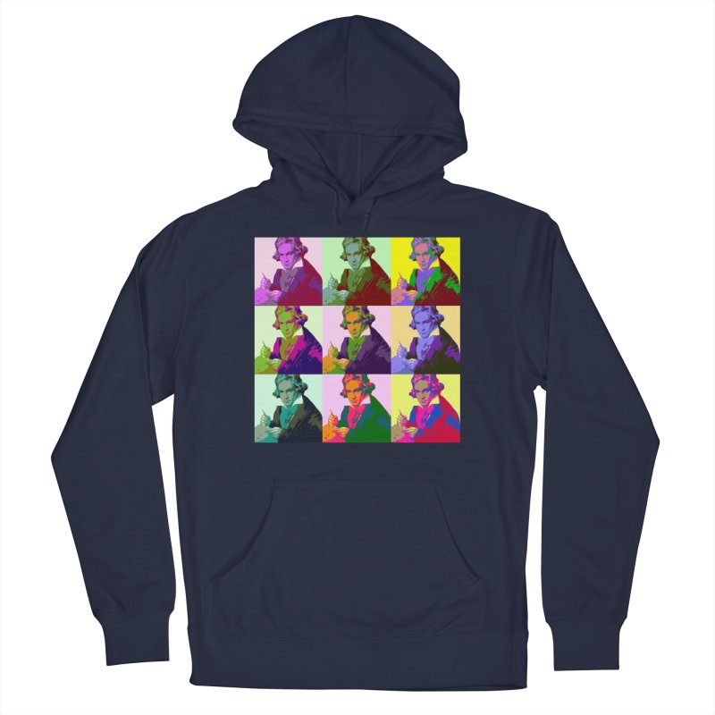 Ludwig Van Beethoven Pop Art Men's Pullover Hoody by Matthew Lacey-icarusismartdesigns