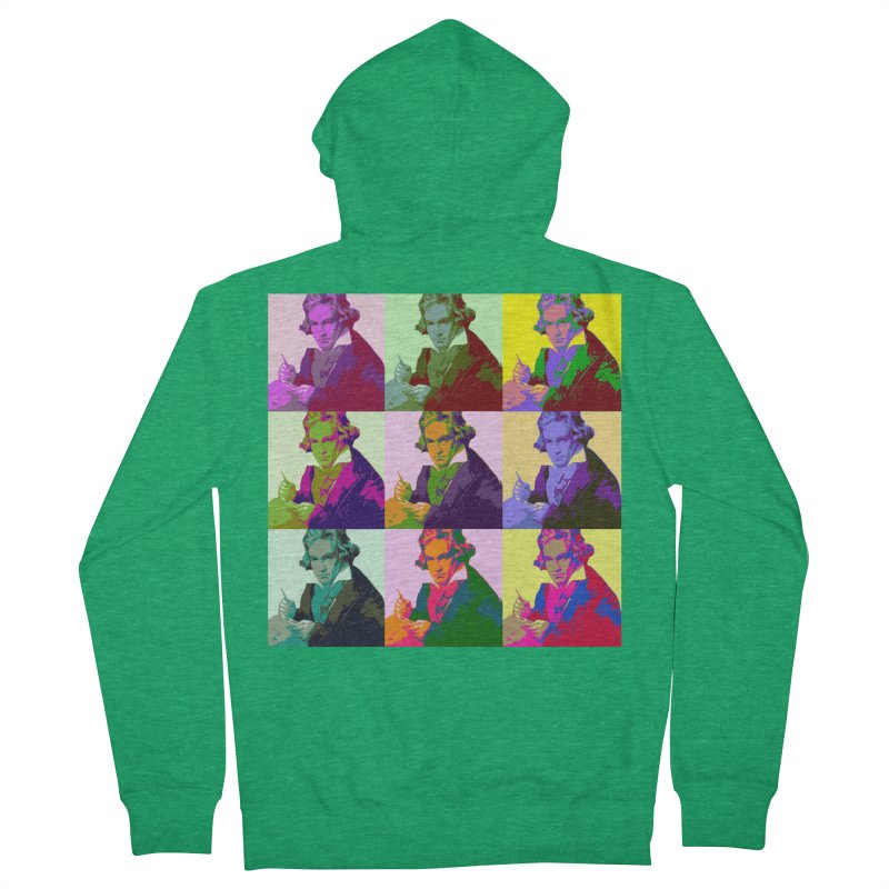 Ludwig Van Beethoven Pop Art Men's Zip-Up Hoody by Matthew Lacey-icarusismartdesigns