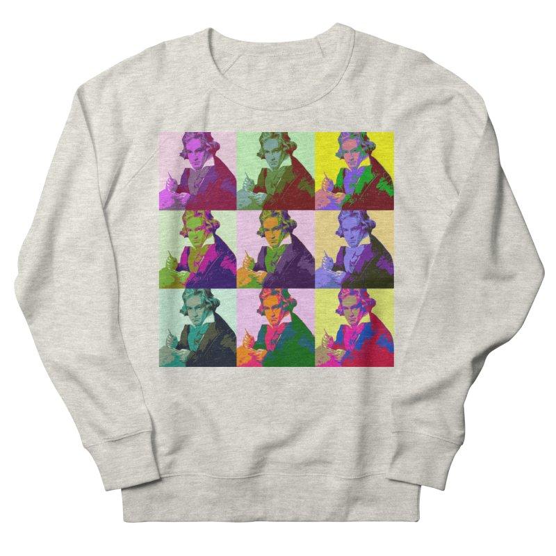 Ludwig Van Beethoven Pop Art Women's Sweatshirt by Matthew Lacey-icarusismartdesigns