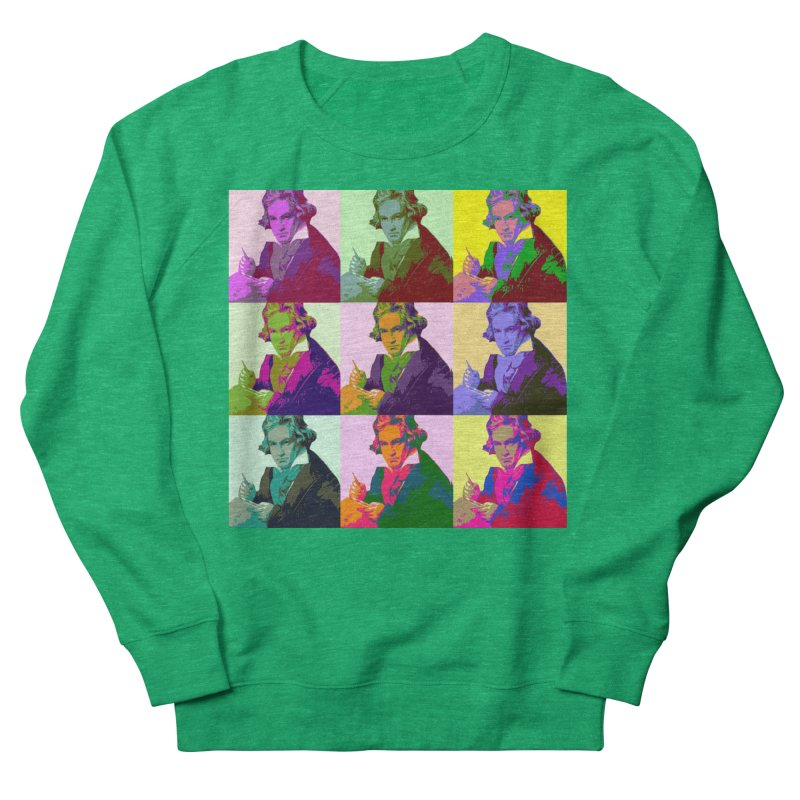 Ludwig Van Beethoven Pop Art Men's Sweatshirt by Matthew Lacey-icarusismartdesigns