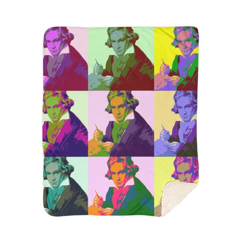 Ludwig Van Beethoven Pop Art Home Blanket by Matthew Lacey-icarusismartdesigns