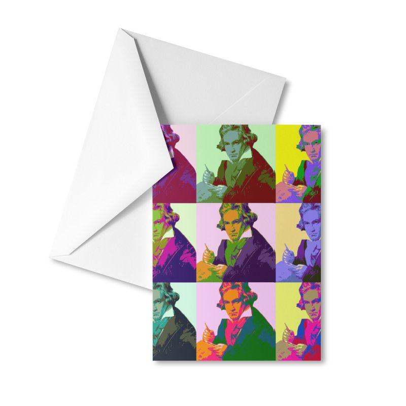 Ludwig Van Beethoven Pop Art Accessories Greeting Card by Matthew Lacey-icarusismartdesigns