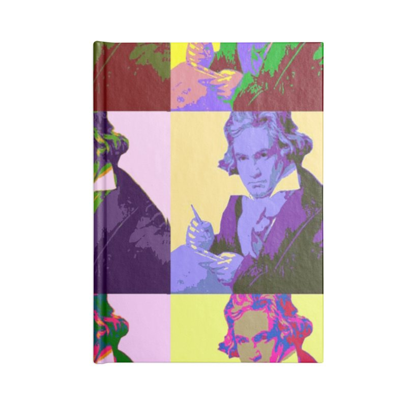 Ludwig Van Beethoven Pop Art Accessories Notebook by Matthew Lacey-icarusismartdesigns