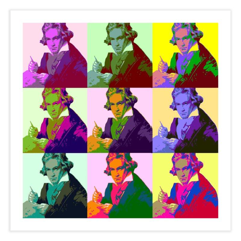 Ludwig Van Beethoven Pop Art Home Fine Art Print by Matthew Lacey-icarusismartdesigns