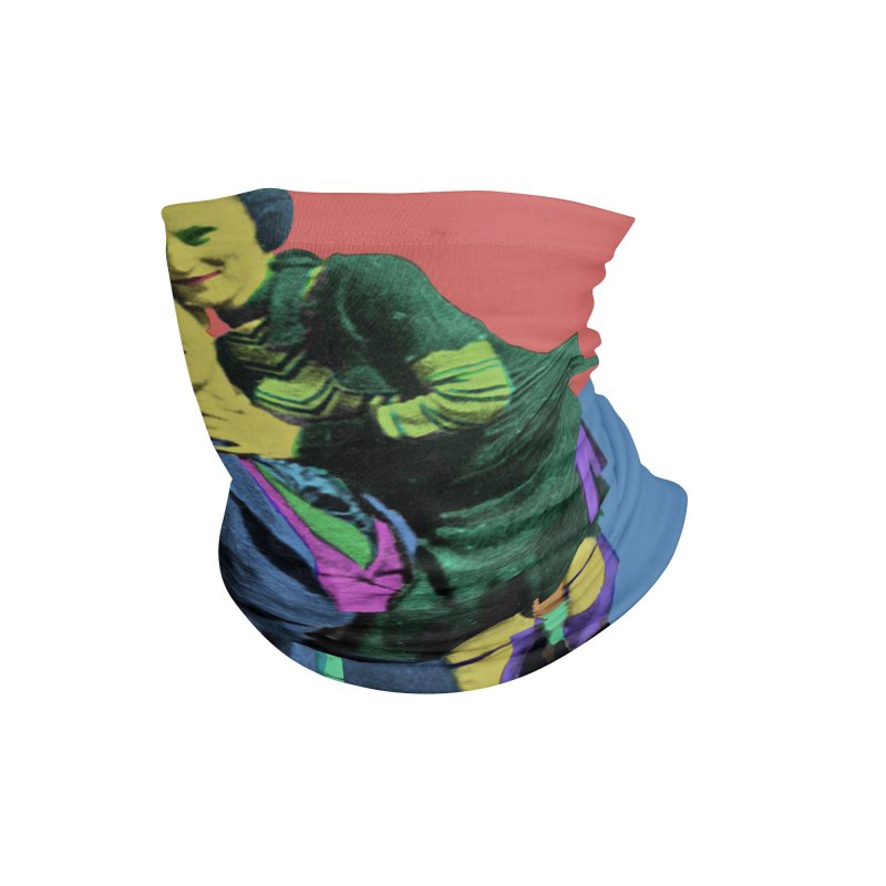 Bonnie and Clyde Pop Art Accessories Neck Gaiter by Matthew Lacey-icarusismartdesigns