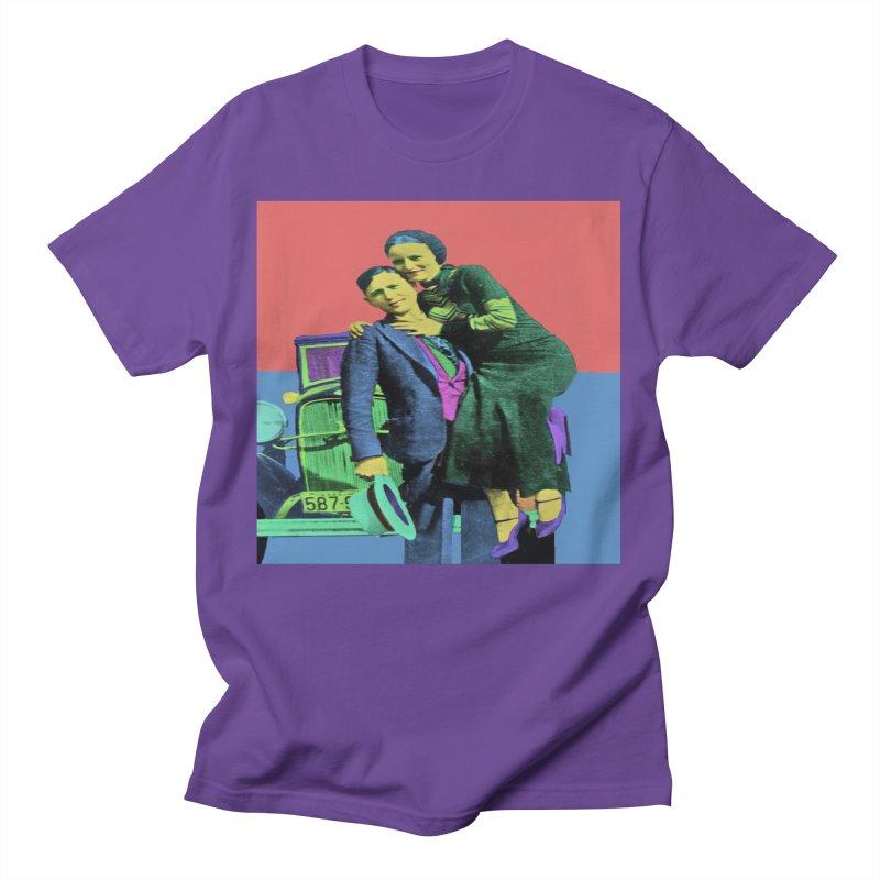 Bonnie and Clyde Pop Art Men's T-Shirt by Matthew Lacey-icarusismartdesigns