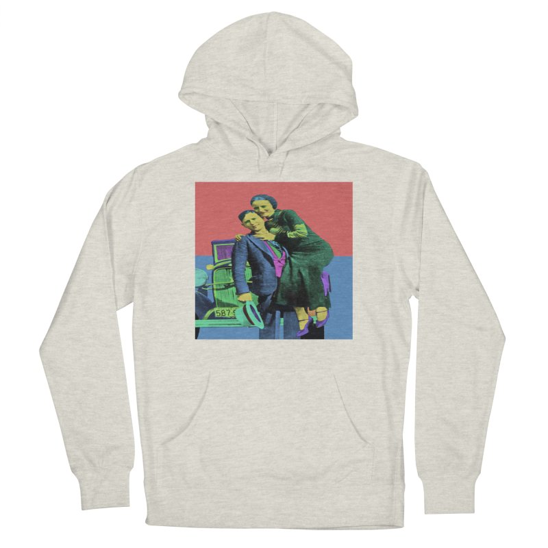 Bonnie and Clyde Pop Art Women's Pullover Hoody by Matthew Lacey-icarusismartdesigns