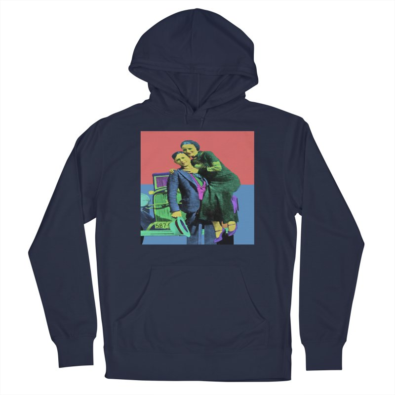 Bonnie and Clyde Pop Art Men's Pullover Hoody by Matthew Lacey-icarusismartdesigns