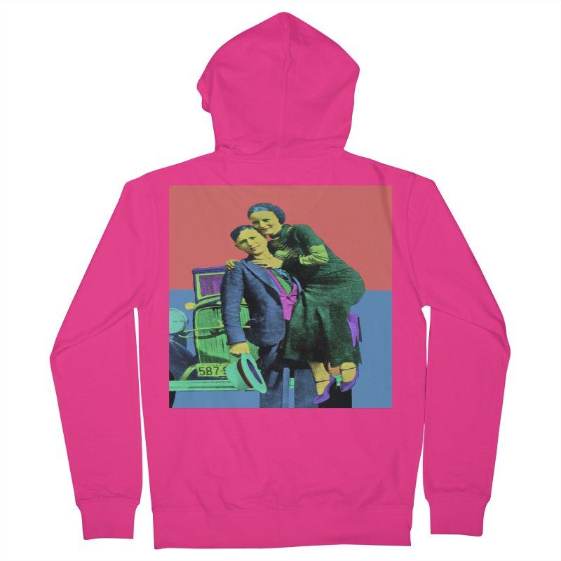 Bonnie and Clyde Pop Art Men's Zip-Up Hoody by Matthew Lacey-icarusismartdesigns