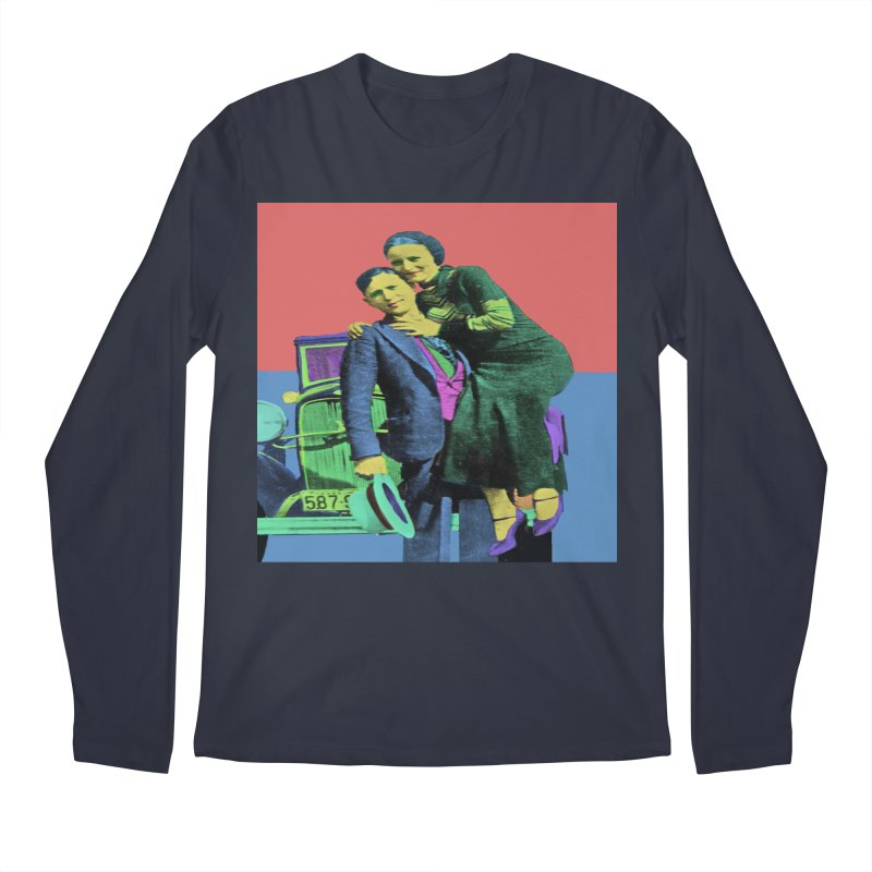 Bonnie and Clyde Pop Art Men's Longsleeve T-Shirt by Matthew Lacey-icarusismartdesigns