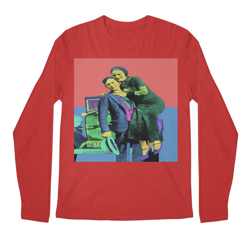 Bonnie and Clyde Pop Art Men's Longsleeve T-Shirt by Matthew Lacey-icarusismartdesigns