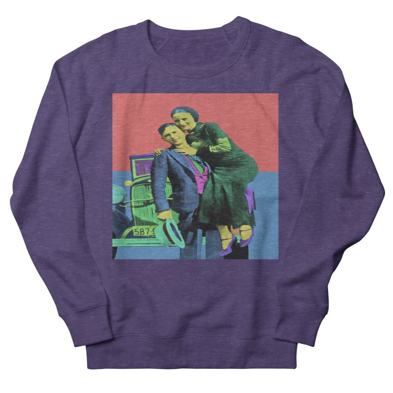 Bonnie and Clyde Pop Art Women's Sweatshirt by Matthew Lacey-icarusismartdesigns