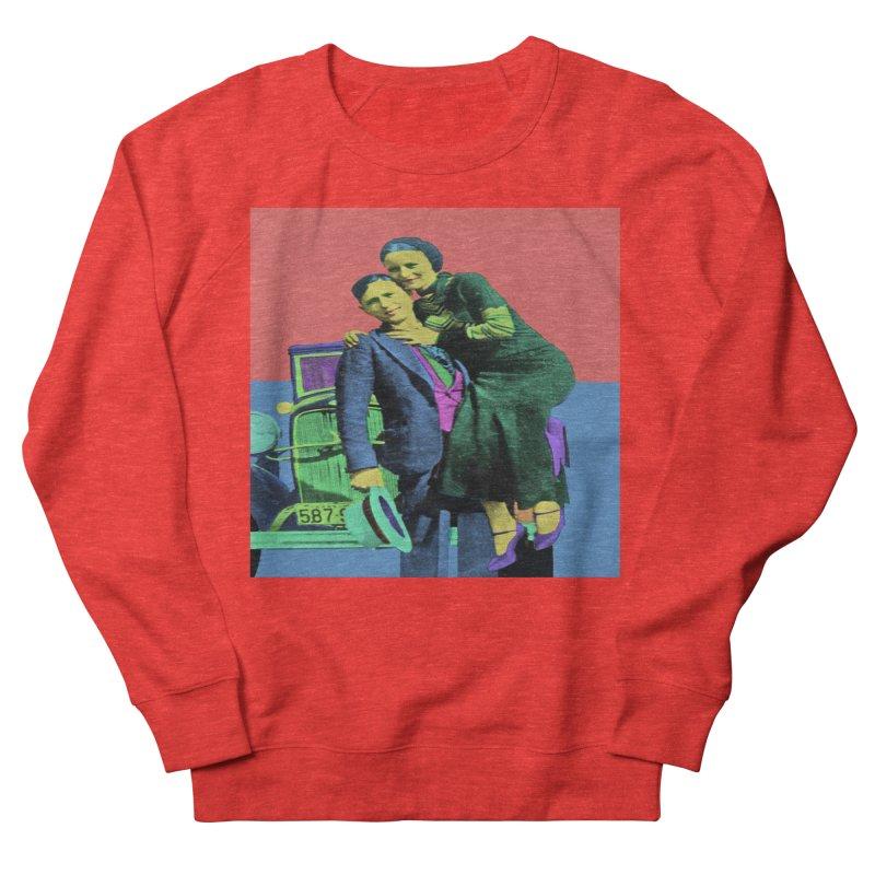 Bonnie and Clyde Pop Art Women's Sweatshirt by Matthew Lacey-icarusismartdesigns