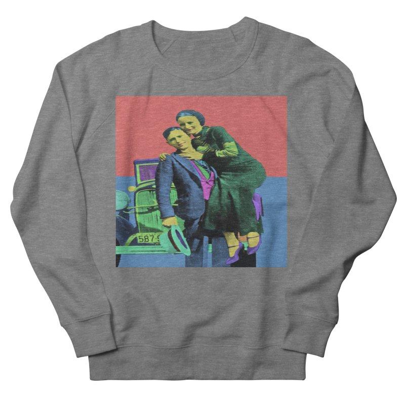 Bonnie and Clyde Pop Art Men's Sweatshirt by Matthew Lacey-icarusismartdesigns