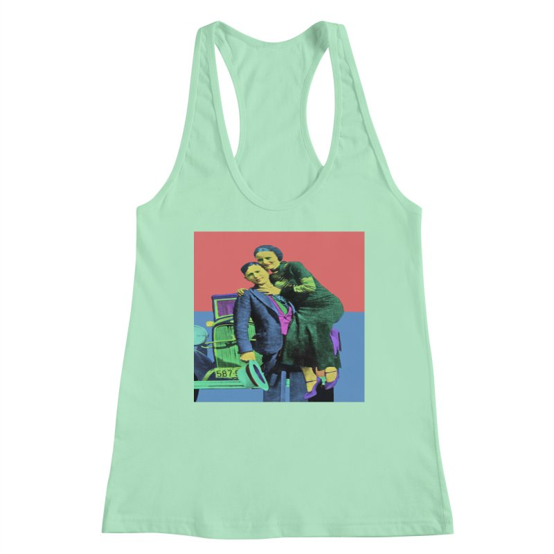 Bonnie and Clyde Pop Art Women's Tank by Matthew Lacey-icarusismartdesigns