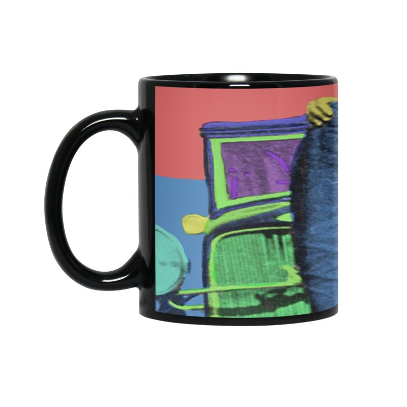 Bonnie and Clyde Pop Art Accessories Mug by Matthew Lacey-icarusismartdesigns