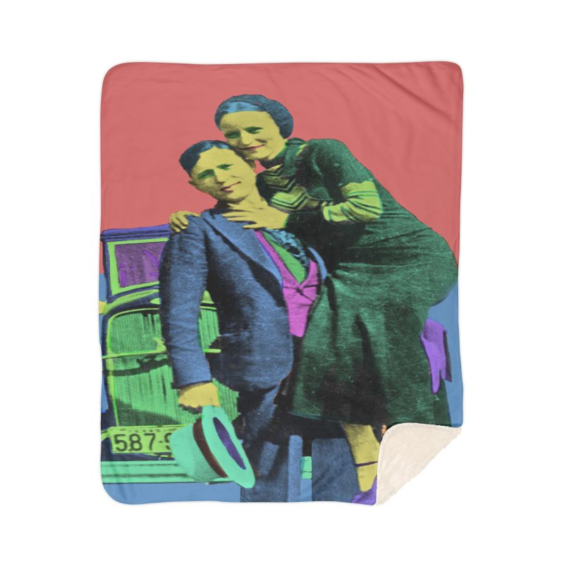 Bonnie and Clyde Pop Art Home Blanket by Matthew Lacey-icarusismartdesigns