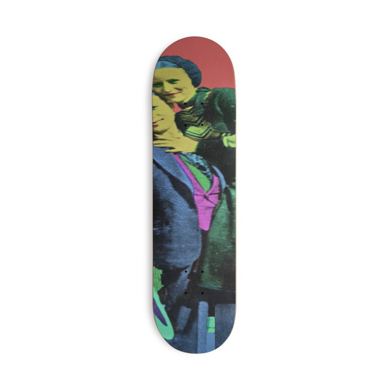 Bonnie and Clyde Pop Art Accessories Skateboard by Matthew Lacey-icarusismartdesigns