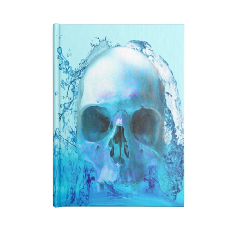 Skull in Water Accessories Notebook by Matthew Lacey-icarusismartdesigns