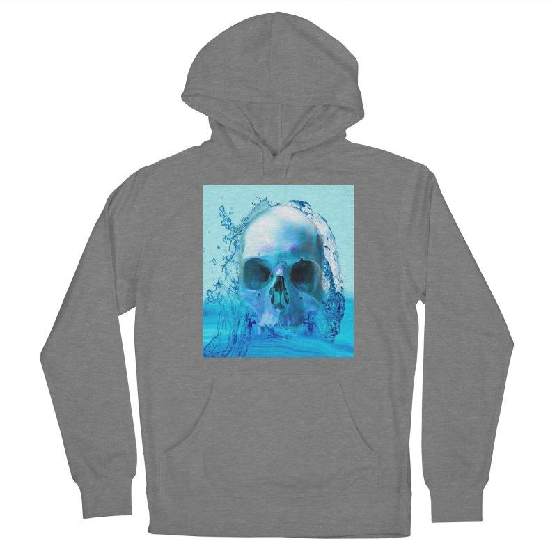 Skull in Water Women's Pullover Hoody by Matthew Lacey-icarusismartdesigns
