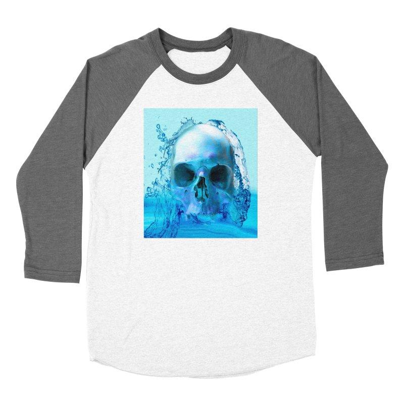 Skull in Water Women's Longsleeve T-Shirt by Matthew Lacey-icarusismartdesigns