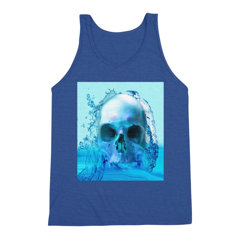 Skull in Water Men's Tank by Matthew Lacey-icarusismartdesigns