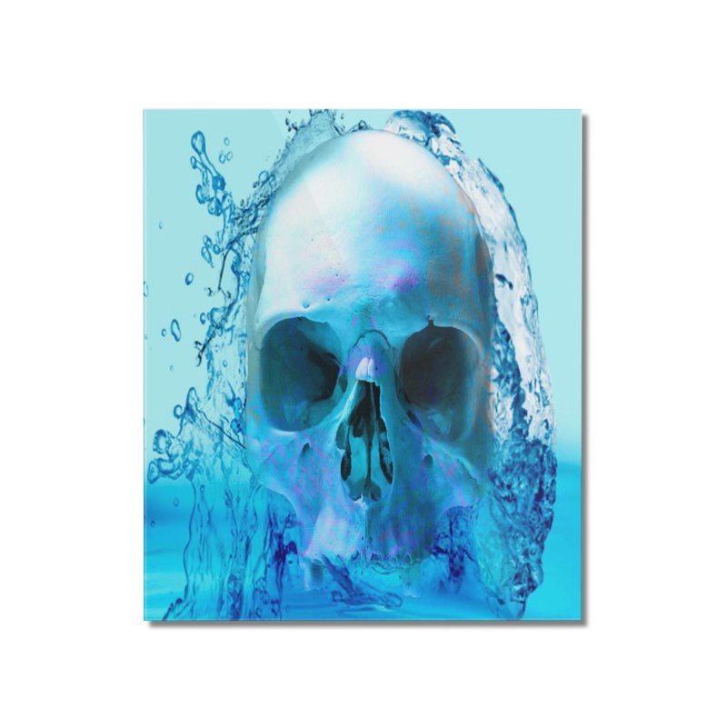 Skull in Water Home Mounted Acrylic Print by Matthew Lacey-icarusismartdesigns