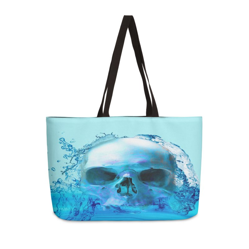 Skull in Water Accessories Bag by Matthew Lacey-icarusismartdesigns
