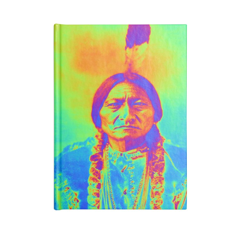 Sitting Bull Accessories Notebook by Matthew Lacey-icarusismartdesigns