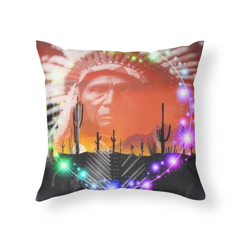 Ghost Dance Home Throw Pillow by Matthew Lacey-icarusismartdesigns