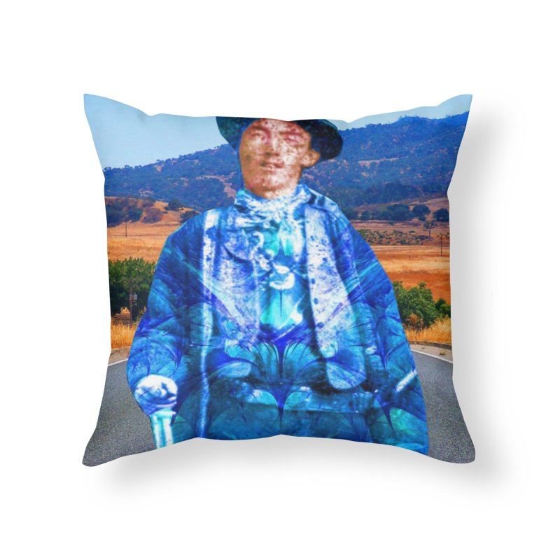 Billy the Kid Home Throw Pillow by Matthew Lacey-icarusismartdesigns