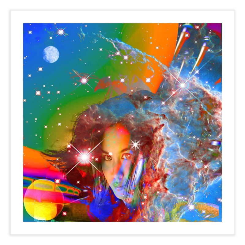 Cosmic Dream Home Fine Art Print by Matthew Lacey-icarusismartdesigns