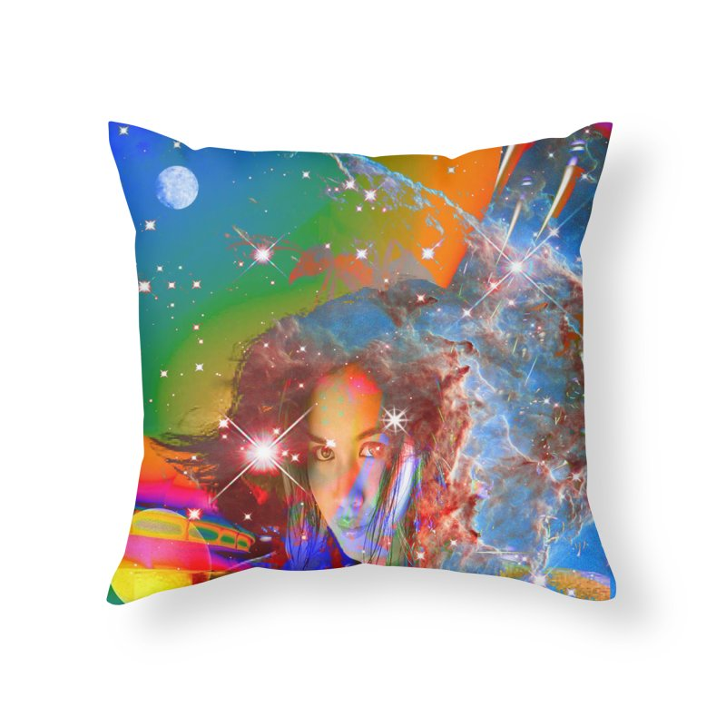 Cosmic Dream Home Throw Pillow by Matthew Lacey-icarusismartdesigns