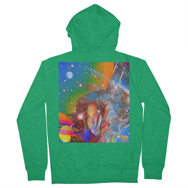 Cosmic Dream Men's Zip-Up Hoody by Matthew Lacey-icarusismartdesigns