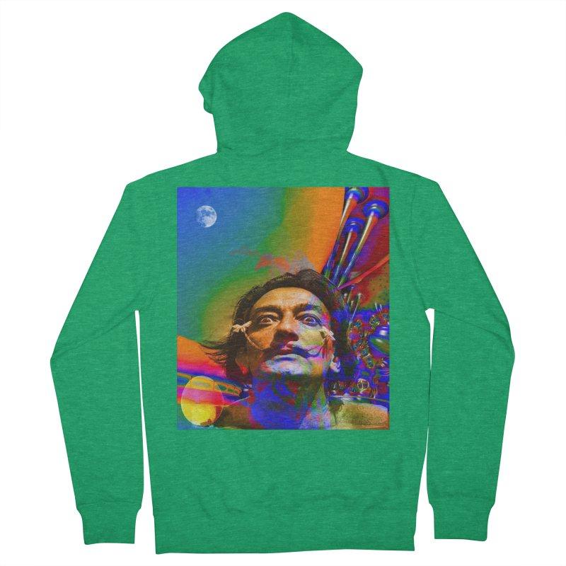 Dream of Salvador Dali Men's Zip-Up Hoody by Matthew Lacey-icarusismartdesigns