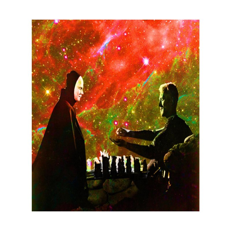 Playing chess with Death Home Fine Art Print by Matthew Lacey-icarusismartdesigns