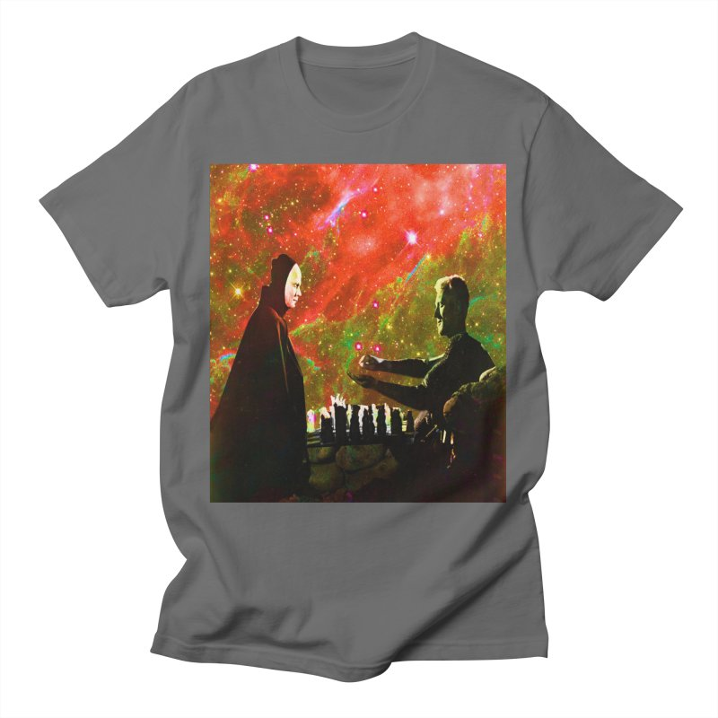 Playing chess with Death Men's T-Shirt by Matthew Lacey-icarusismartdesigns