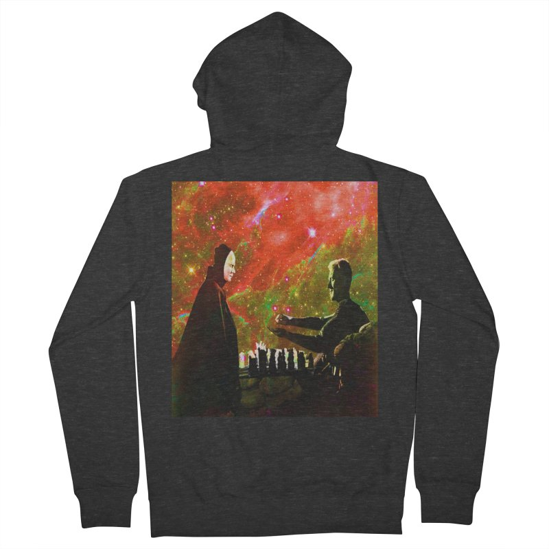 Playing chess with Death Men's French Terry Zip-Up Hoody by Matthew Lacey-icarusismartdesigns