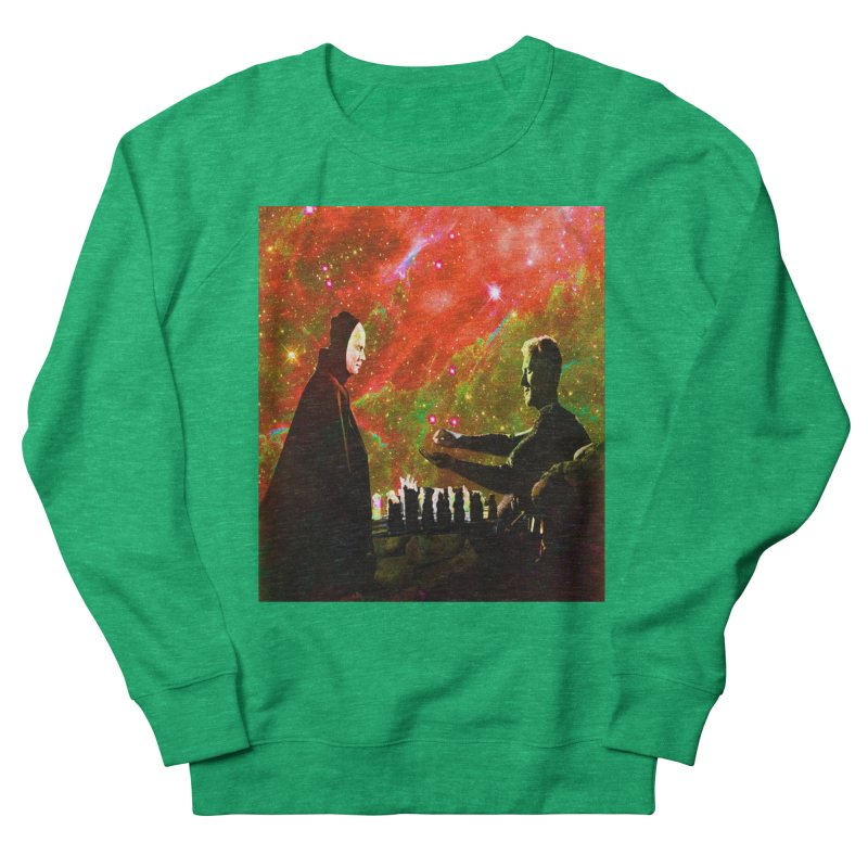 Playing chess with Death Women's Sweatshirt by Matthew Lacey-icarusismartdesigns