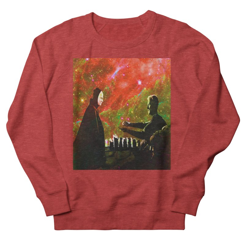Playing chess with Death Women's French Terry Sweatshirt by Matthew Lacey-icarusismartdesigns
