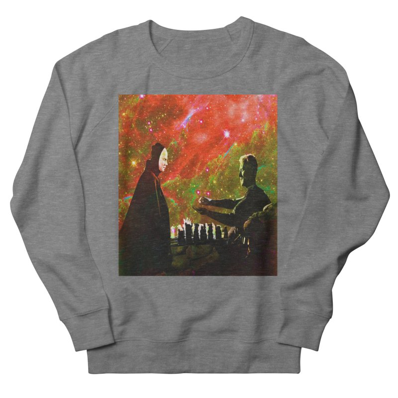 Playing chess with Death Men's French Terry Sweatshirt by Matthew Lacey-icarusismartdesigns