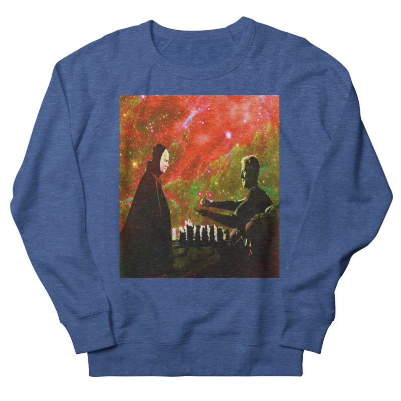 Playing chess with Death Men's Sweatshirt by Matthew Lacey-icarusismartdesigns